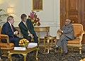 The former President of the Federative Republic of Brazil, Mr. Luiz Inacio Lula da Silva calls on the President, Shri Pranab Mukherjee, at Rashtrapati Bhavan, in New Delhi on November 22, 2012.jpg