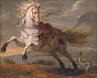 Musée Magnin - Bénigne Gagnereaux, The horse and the snake, 1787