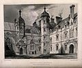 The north west sides of the courtyard of Heriot's Hospital, Wellcome V0012590.jpg