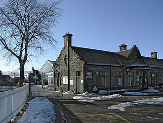 Kingussie railway station - Image: The station at Kingussie geograph.org.uk 1744514