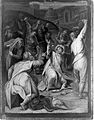 The stoning of St Stephen. Oil painting attributed to Orazio Wellcome L0010582.jpg