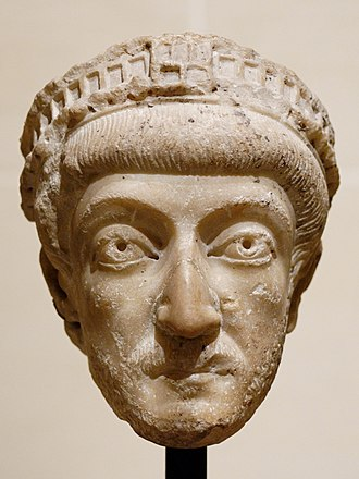 Theodosius II - Bust of Theodosius II in the Louvre