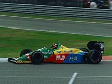 Thierry Boutsen sur Benetton B188 en 1988 au Canada.