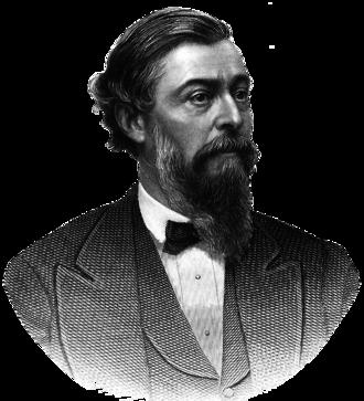 Thomas C. Durant - Steel engraving of Brady portrait of Thomas Durant