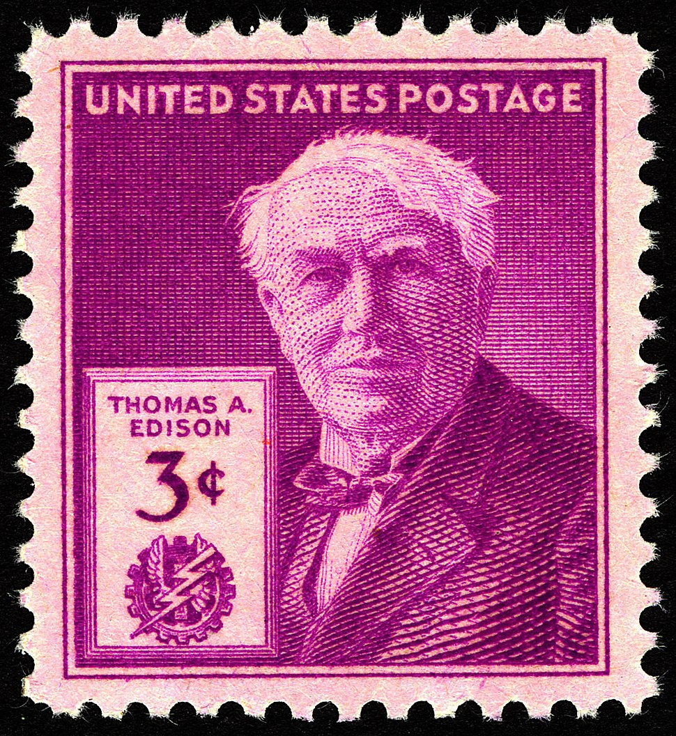 Thomas Edison 3c 1947 issue U.S. stamp