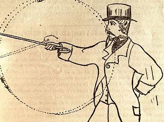 Colonel Thomas Hoyer Monstery - Monstery's cane self defense technique, 1878