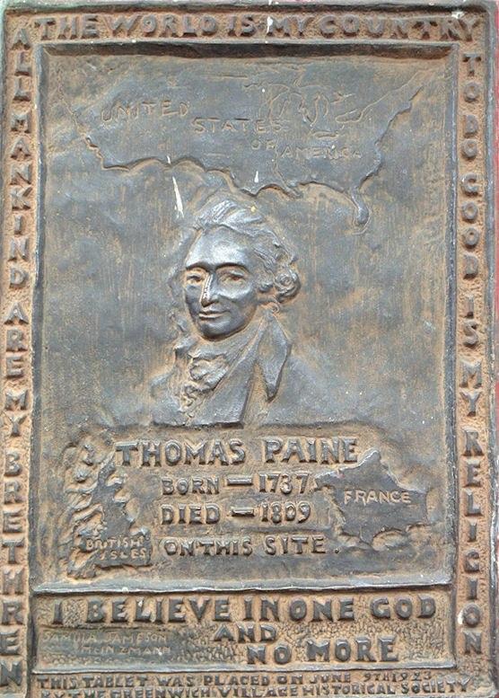 Thomas Paine Plaque NY