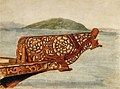 Thomas Ryan - Figurehead of a small war canoe, Lake Rotorua.jpg