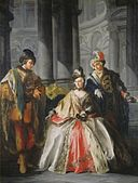 Three Figures Dressed for a Masquerade sc1129.jpg