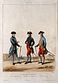 Three French army generals of Louis XVI in military dress, t Wellcome V0015734EL.jpg