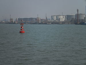 Port of Tianjin governance, traffic management and law enforcement - Main Channel buoy 44 and Petrochemical Terminal
