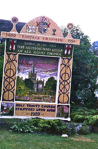 Tideswell - Tideswell well dressing is usually at the end of June