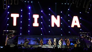 Tina!: 50th Anniversary Tour - Tina Turner on the stage.
