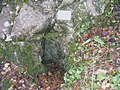 Tiny cave entrance in Carmel Woods - geograph.org.uk - 75104.jpg