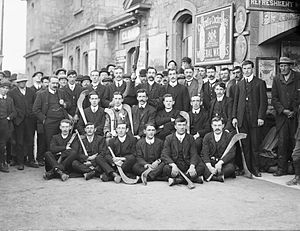Tipperary GAA - Tipperary Hurling Team outside Clonmel railway station, August 26, 1910