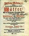 Tiselius Uthförlig Beskrifning öfwer Wättern (1723) titelblad.jpg