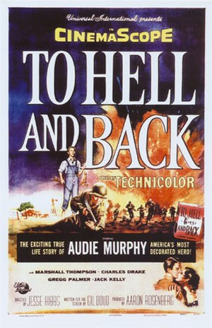 To Hell and Back (film) - Film poster by Reynold Brown