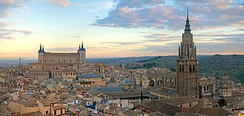 Panorama of the Toledo skyline in Spain, at su...