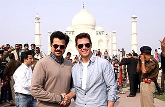 Anil Kapoor - Image: Tom Cruise visits the Taj Mahal with Anil Kapoor