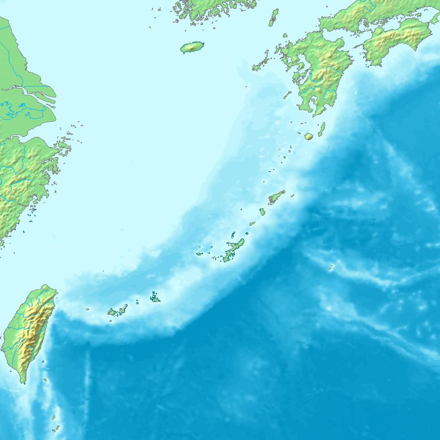 尖閣諸島の位置(南西諸島内)