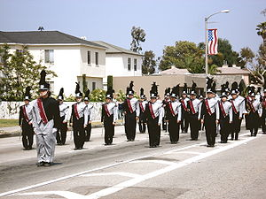 Torrance High School - The Torrance High Marching Band, in the Torrance Armed Forces Day Parade.