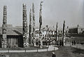Totem Poles around Alaska Building at Louisiana Purchase Exposition 1904.jpg