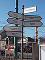 Town twinning fingerpost, Bosnyák Square, 2017 Zuglo.jpg