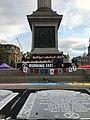 Trafalgar square during the Extinction Rebellion protest in Octobre 2019.jpg