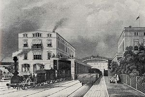The Potsdam Railway station in Berlin in 1843