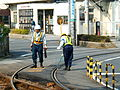 Trak work on Arakawa tram (289762736).jpg