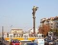 Tram in Sofia near Sofia statue 2012 PD 009.jpg