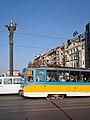 Tram in Sofia near Sofia statue 2012 PD 049.jpg