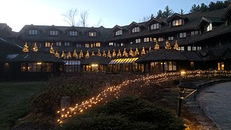 Trapp Family Lodge - The lodge decked out in Christmas trees the day after Thanksgiving, 2017.