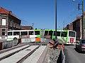 Travaux de la branche vers Vieux-Condé de la ligne B du tramway de Valenciennes en avril 2013 (171).JPG