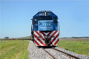 EMD G22CU - A TACyL locomotive on the General Belgrano Railway.