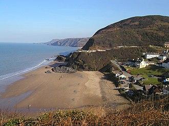 Ceredigion Coast Path - Tresaith from the coast path