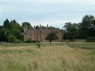 Trevalyn Hall Grade II* listed building in Rossett. Elizabethan manor house near Wrexham, Wales