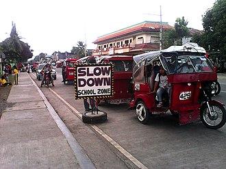Santo Tomas, Davao del Norte - Image: Tricycle Row STCESSC