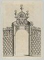 Triumphal arch, from 'Éloges et discours sur la triomphante réception du Roy en sa ville de Paris ...' by Jean-Baptiste de Machault MET DP855537.jpg