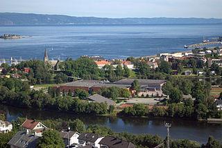 Øya Neighborhood in Trondheim in Trøndelag, Central Norway, Norway