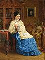 Trouillebert Paul Desire Femme en robe bleue revant.jpg