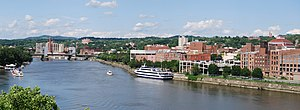 Troy, New York - The Troy waterfront along the Hudson River, 2009