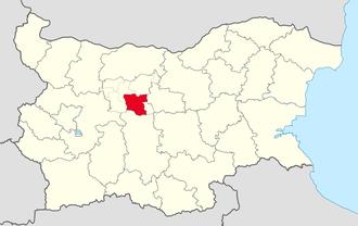 Troyan Municipality - Image: Troyan Municipality Within Bulgarial