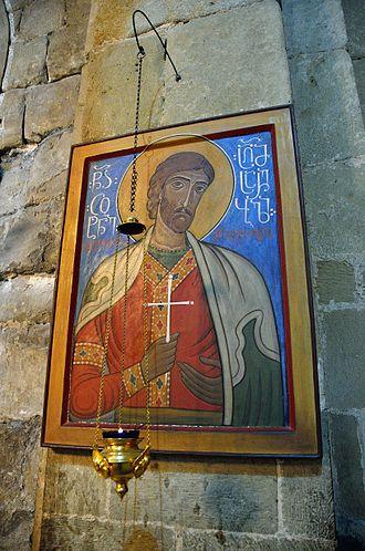 Tsotne Dadiani - Icon of Tsotne Dadiani at Svetitskhoveli Cathedral.