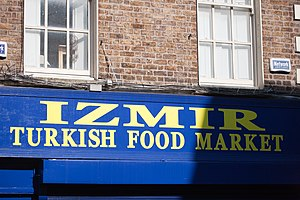 Turks in Ireland - A Turkish food market in Capel Street, Dublin.