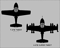 "T-37B ""Tweet"" in A-37B ""Super Tweet"""