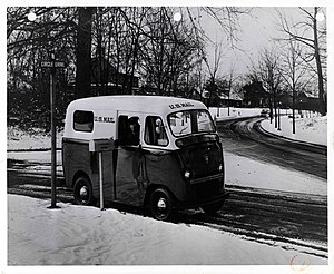 "Twin Coach - Twin Coach ""Pony Express"" postal van, circa 1953"