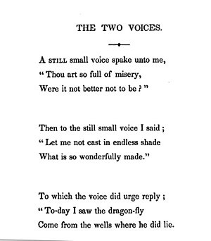 "The Two Voices - ""The Two Voices"" from an American edition of Poems, 1842"