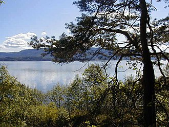 Ringerike (traditional district) - View of Tyrifjorden, a lake in southern Ringerike.