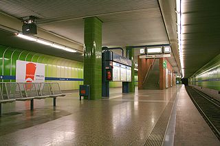 Partnachplatz (Munich U-Bahn) metro station in Munich, Germany